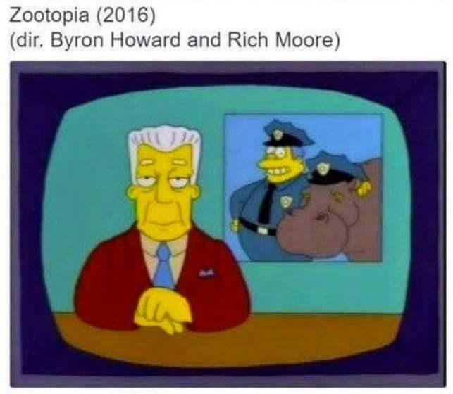 Cartoon - Zootopia (2016) (dir. Byron Howard and Rich Moore)