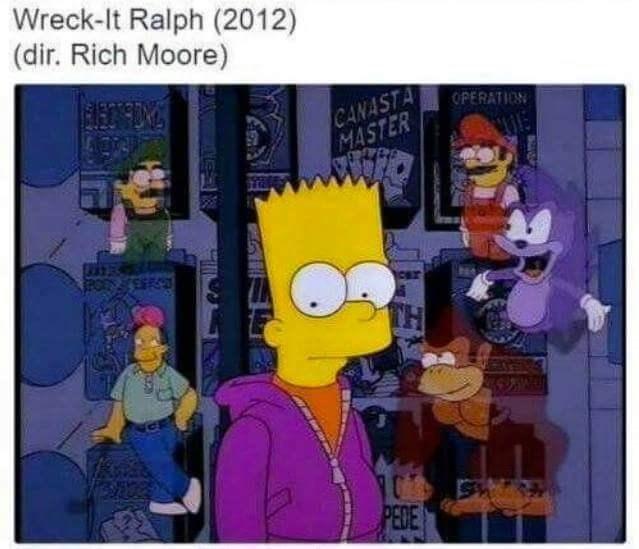 Animated cartoon - Wreck-It Ralph (2012) (dir. Rich Moore) CANASTA MASTER OPERATION PEDE