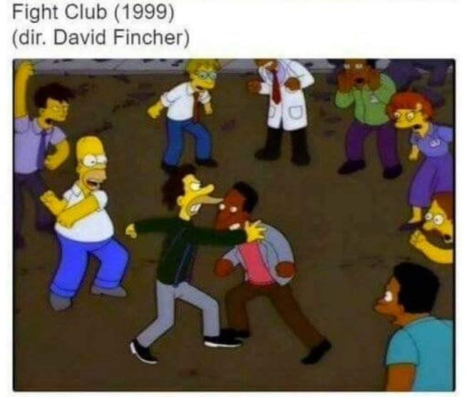 Cartoon - Fight Club (1999) (dir. David Fincher)