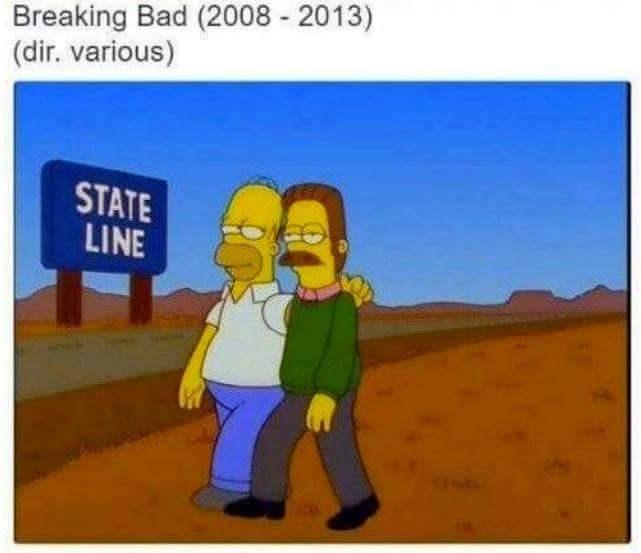 Cartoon - Breaking Bad (2008 2013) (dir. various) STATE LINE