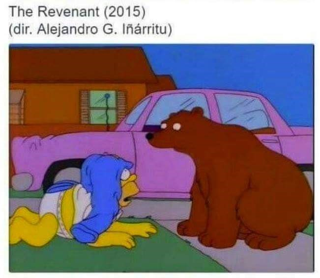 Cartoon - The Revenant (2015) (dir. Alejandro G. Iñárritu)