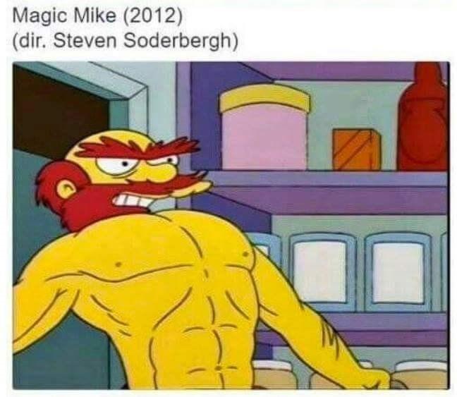 Cartoon - Magic Mike (2012) (dir. Steven Soderbergh)