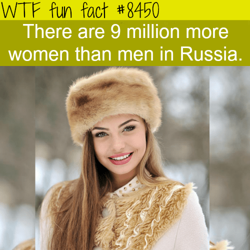 Fur - WTF fun fact #8450 There are 9 million more women than men in Russia.