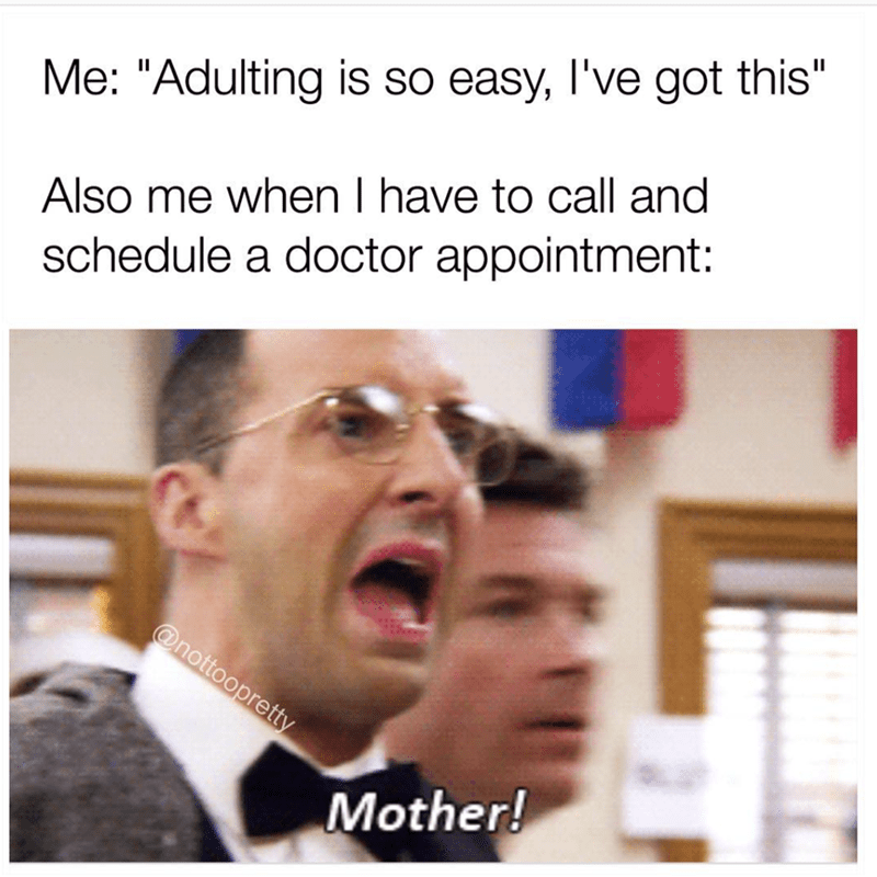 Buster meme about adulting