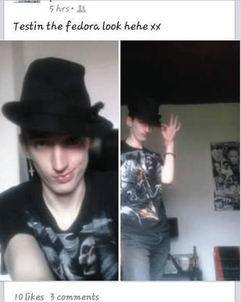 Cool - 5 hrs Testin the fedora look hehe xx 10 likes 3 comments