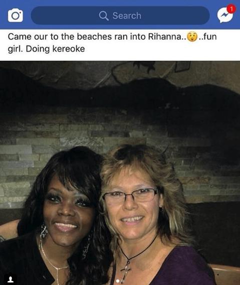 Selfie - Q Search Came our to the beaches ran into Rihanna...fun girl. Doing kereoke