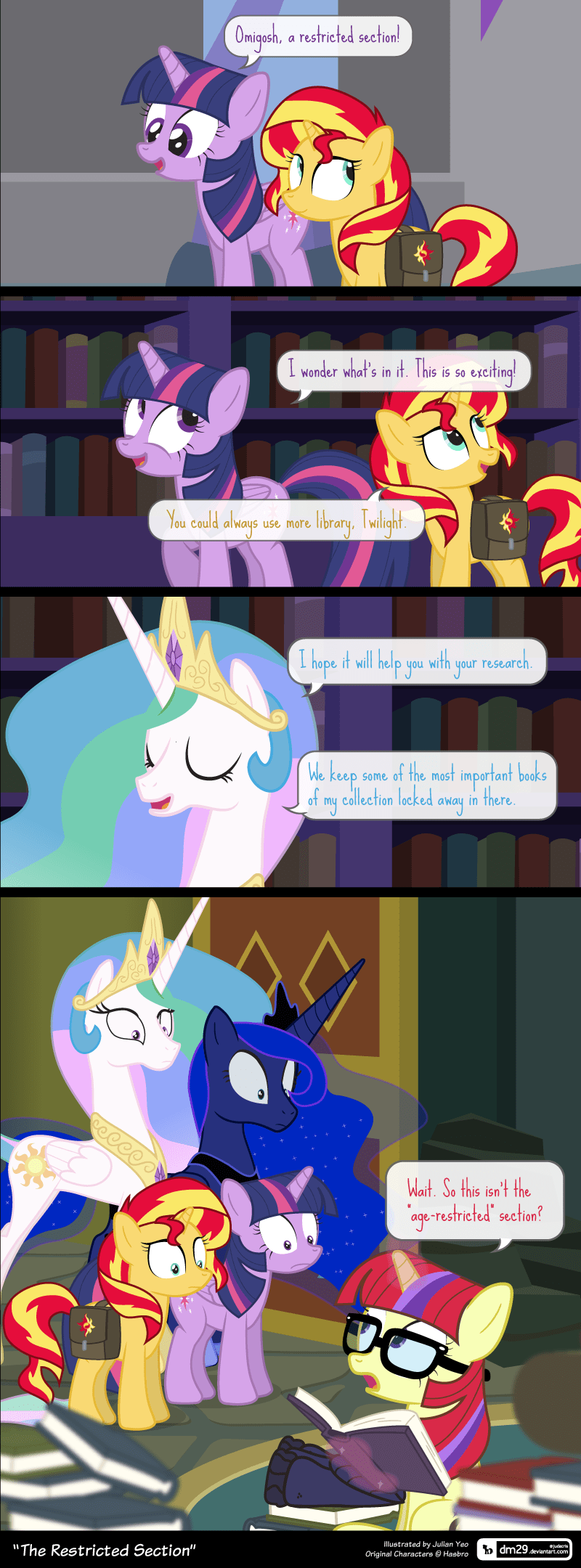 forgotten friendship equestria girls moon dancer twilight sparkle dm29 princess luna comic princess celestia sunset shimmer - 9131120128