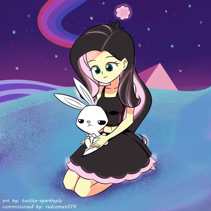 angel equestria girls ponify fluttershy - 9131475456