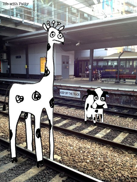 Street art - Iife with Patty KEEP OFF THE TRACK