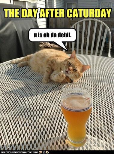 Sunday meme about hangovers