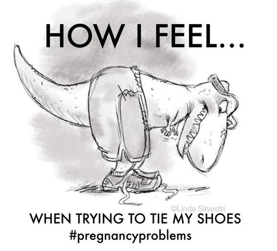 Cartoon - HOW I FEEL... Linda Silvestri WHEN TRYING TO TIE MY SHOES #pregnancyproblems AN