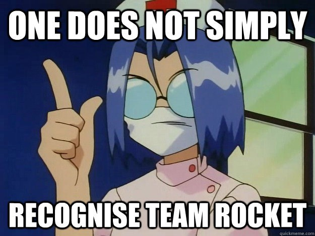 Cartoon - ONE DOES NOT SIMPLY RECOGNISE TEAM ROCKET quickmeme.com