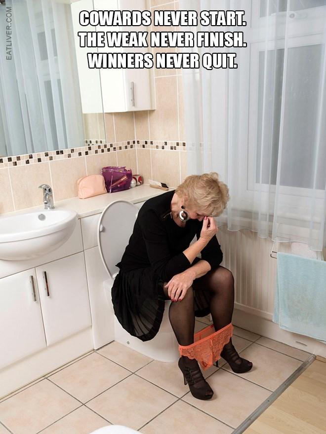 Tile - COWARDS NEVER START. THE WEAK NEVER FINISH. WINNERS NEVERQUIT EATLIVER.COM