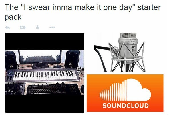 stater pack of dude who swears he will make it one day