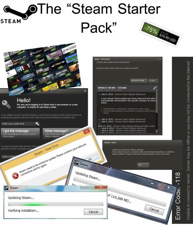 steam starter pack