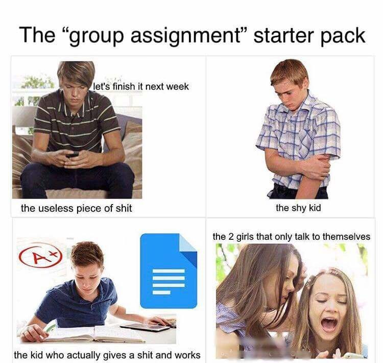 group assignment starter pack