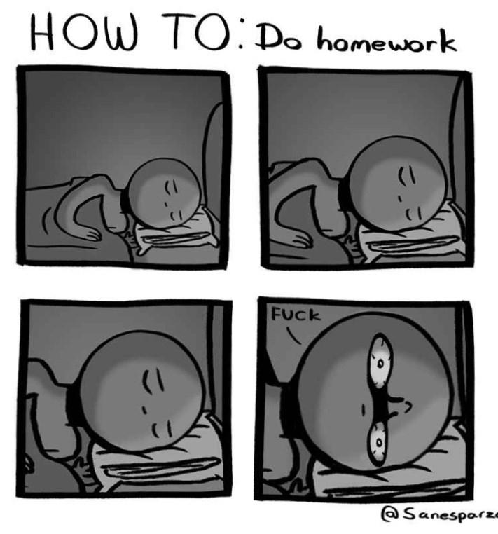 Line art - HOW TO Do homework (I FUck @Sanesparz-