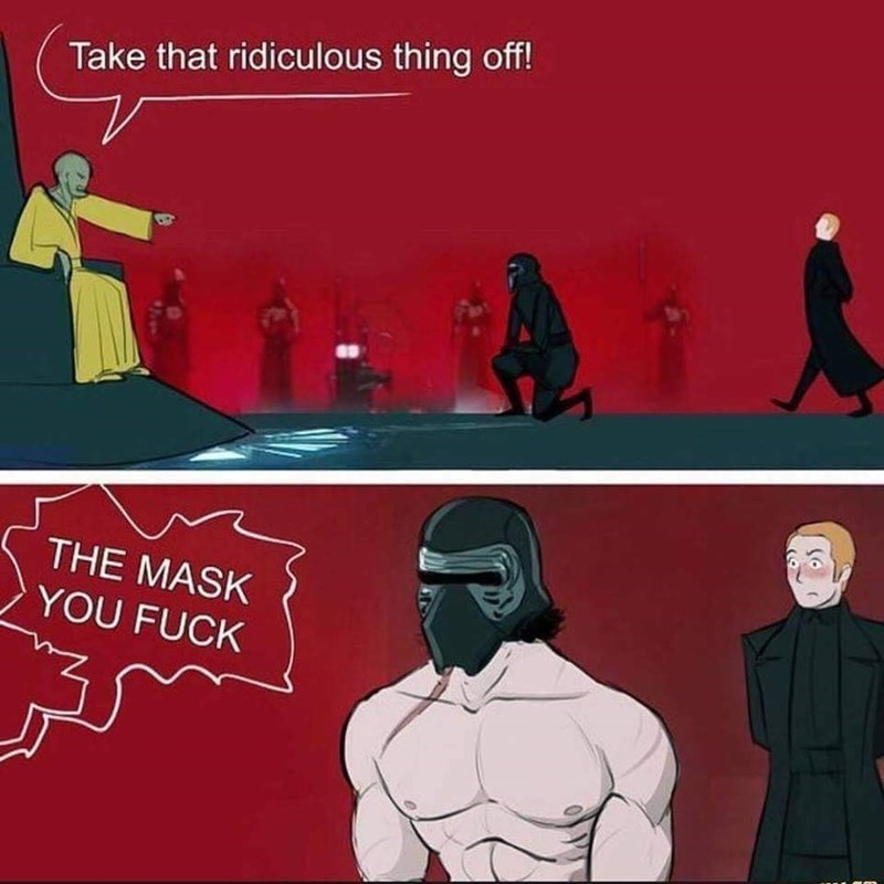 Cartoon - Take that ridiculous thing off! THE MASK YOU FUCK