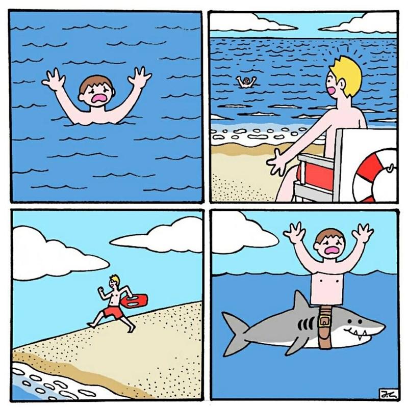 truco de los tiburones