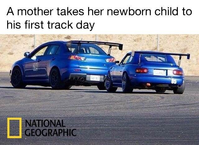 Land vehicle - A mother takes her newborn child to his first track day | NATIONAL GEOGRAPHIC