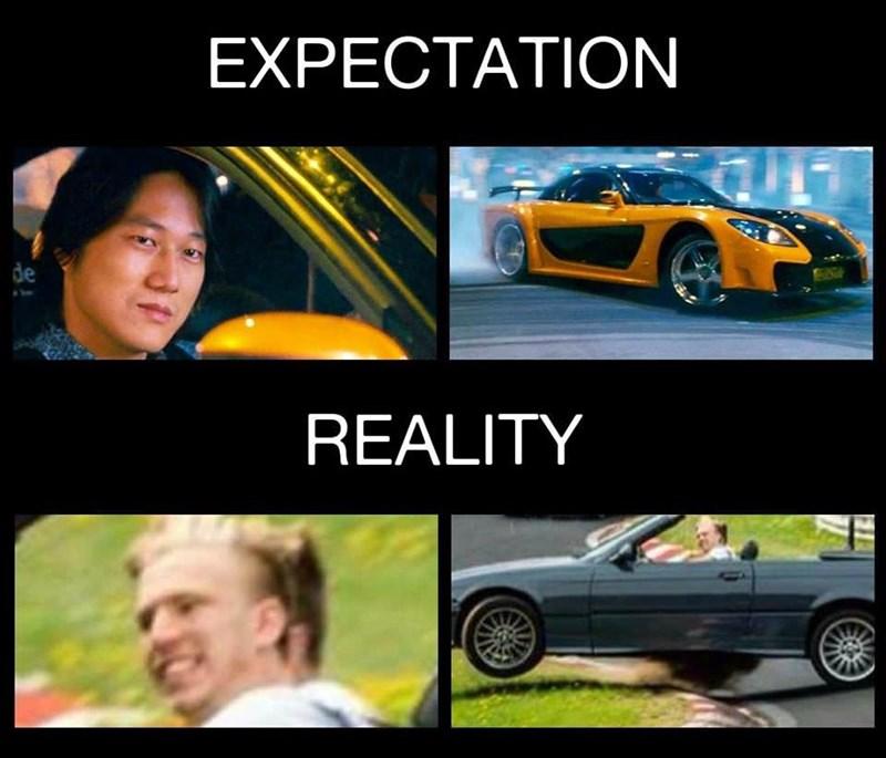 Land vehicle - EXPECTATION de REALITY