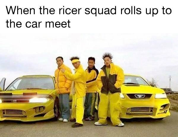 Land vehicle - When the ricer squad rolls up to the car meet