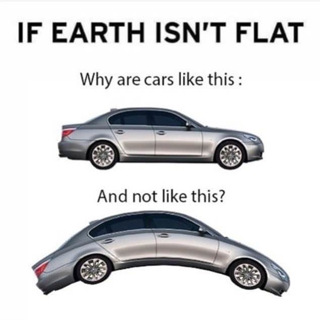 Land vehicle - IF EARTH ISN'T FLAT Why are cars like this: And not like this?