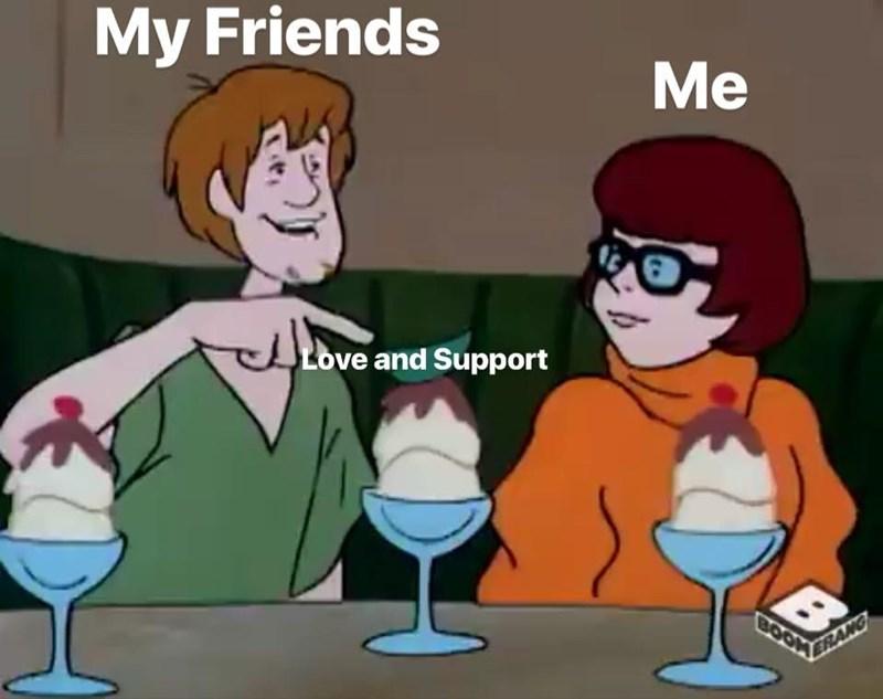Cartoon - My Friends Me Love and Support BOOK ERANG