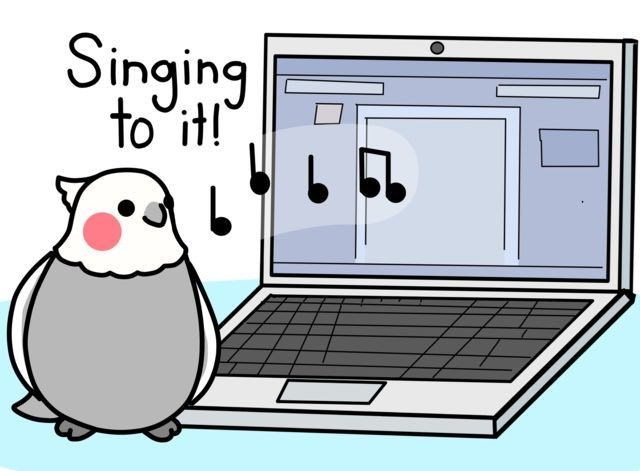 Cartoon - Singing to it!