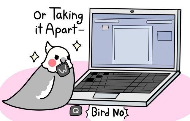 Cartoon - Or Taking it Apart- Bird Nox