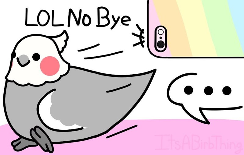 Cartoon - LOLNO Bye isABi bThing