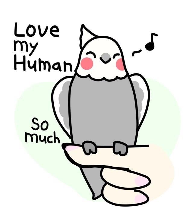 Cartoon - Love my Human So much