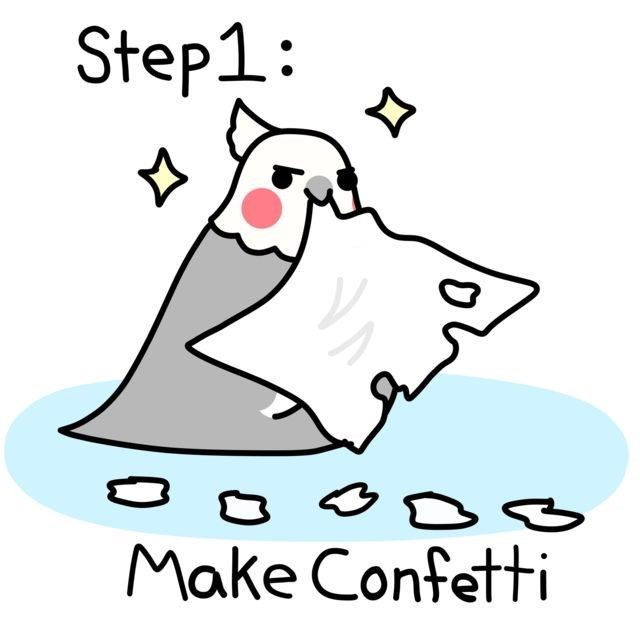 Cartoon - Step1 Make Confetti.