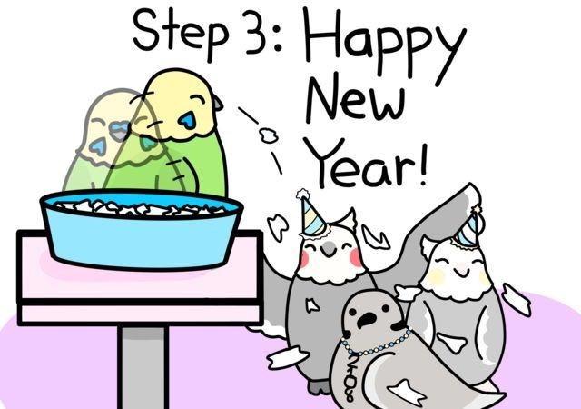 Cartoon - Step 3: Hаpрy New Year!