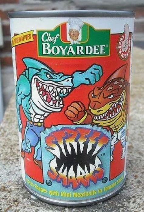 nostalgia - Food - Chef REEVATIVES BOYARDEE trps TM ate Shapes with Mini Meatballs in Tomate