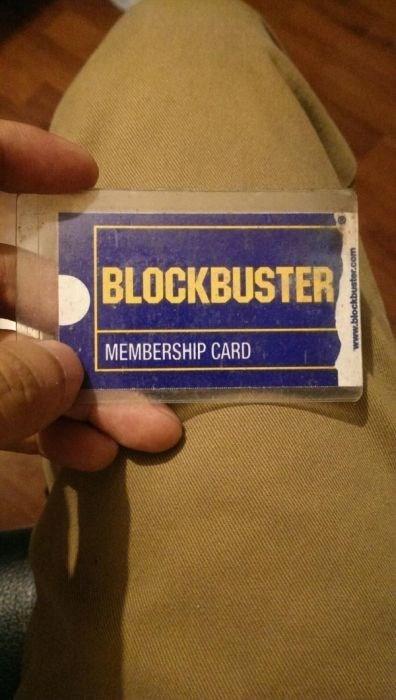 nostalgia - Finger - BLOCKBUSTER MEMBERSHIP CARD