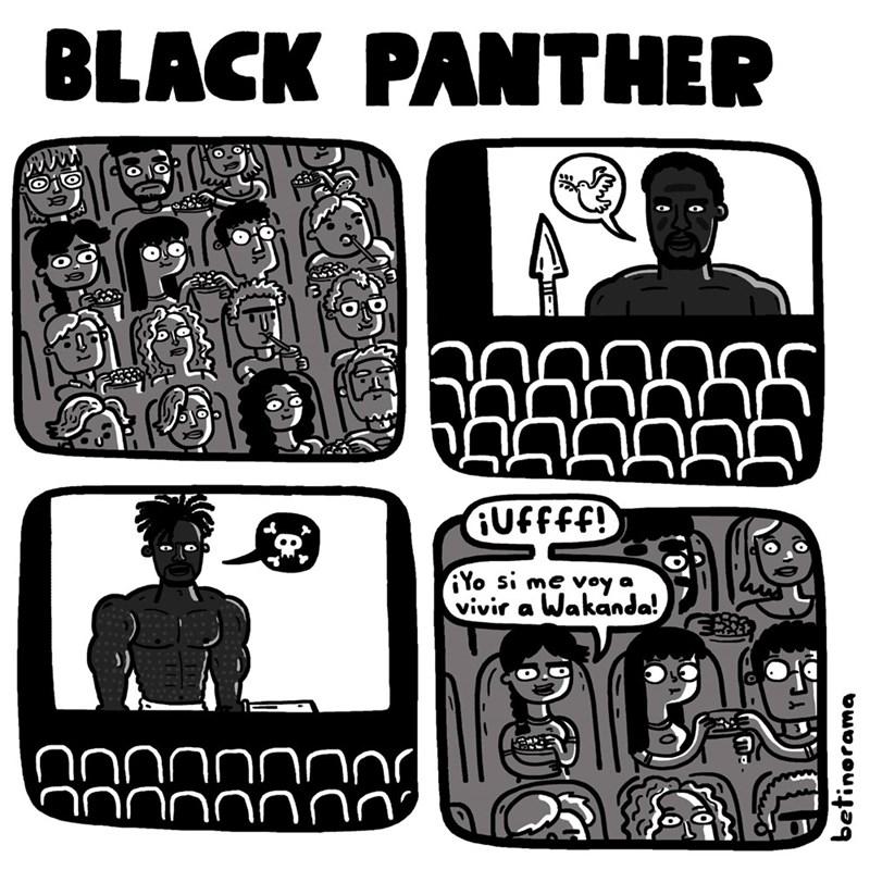 la razon por la que a las chicas les gusta black panther