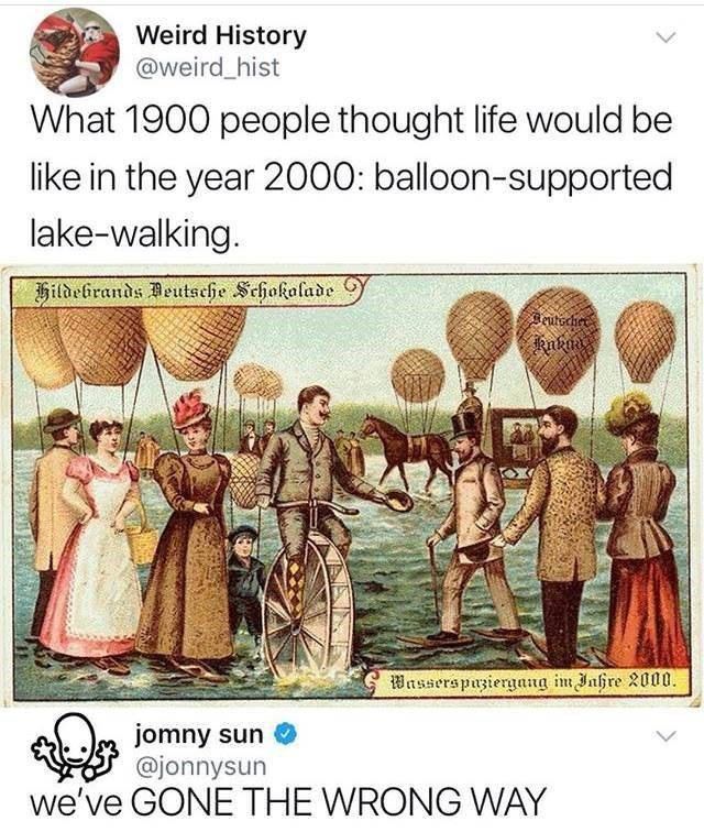 Funny meme about what people thought the future would be like.