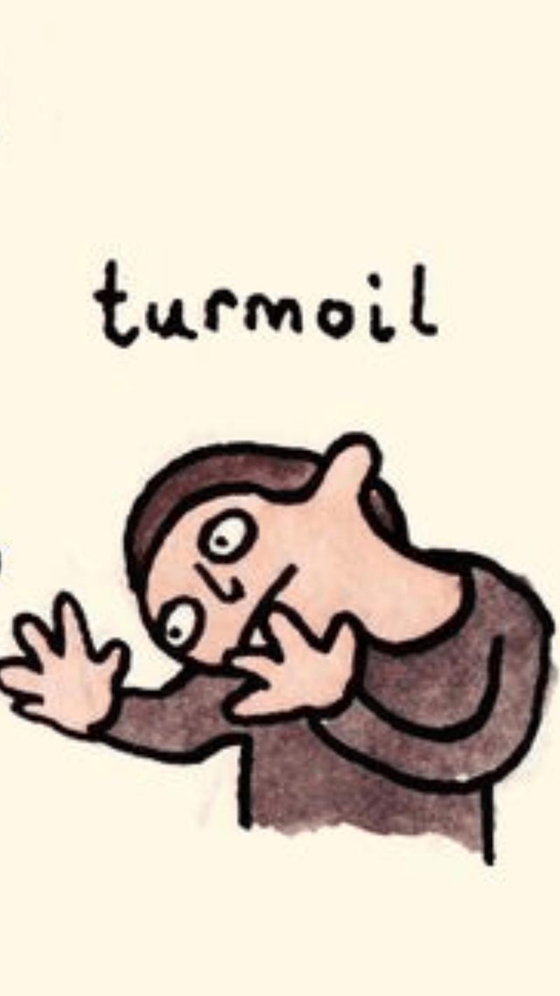 Cartoon - turmoil