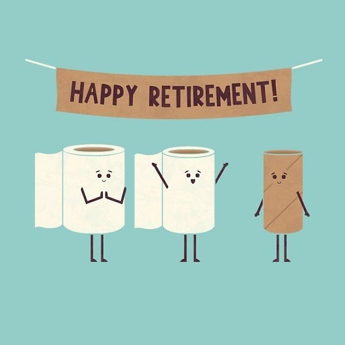 Text - HAPPY RETIREMENT! JL