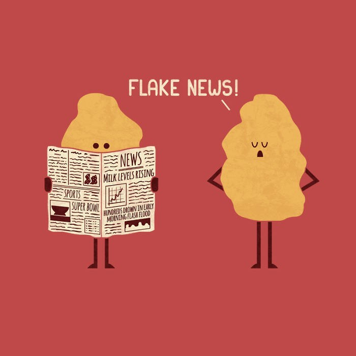 Text - FLAKE NEWS! NEWS MILK LEVELS RISING SPORTS SUPER BOWL HUNDREDS DROWN IN EARLY MORNING FLASH FLOOD