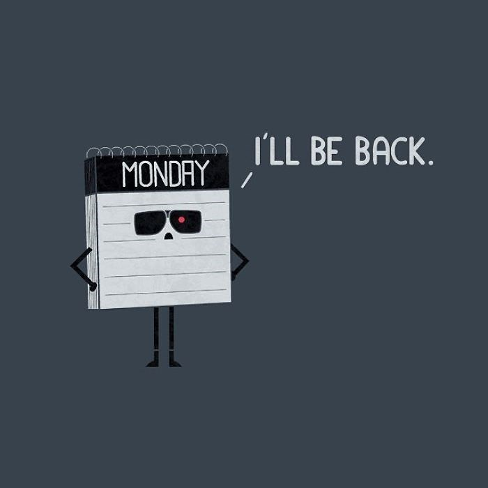 Font - ILL BE BACK MONDAY
