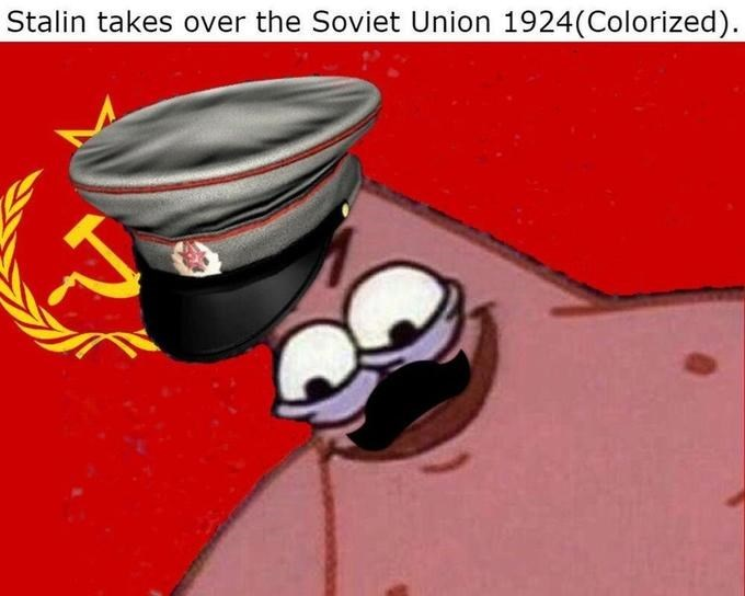 Cartoon - Stalin takes over the Soviet Union 1924(Colorized)
