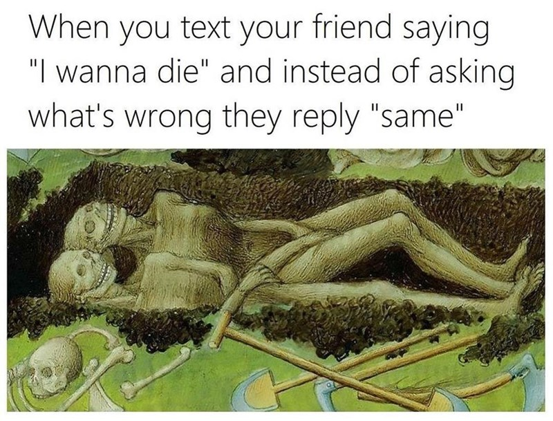 Funny meme about friendship.