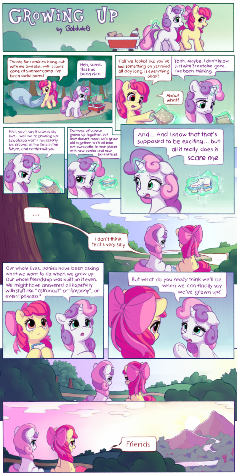 applejack Sweetie Belle bobdude0 comic - 9134568704