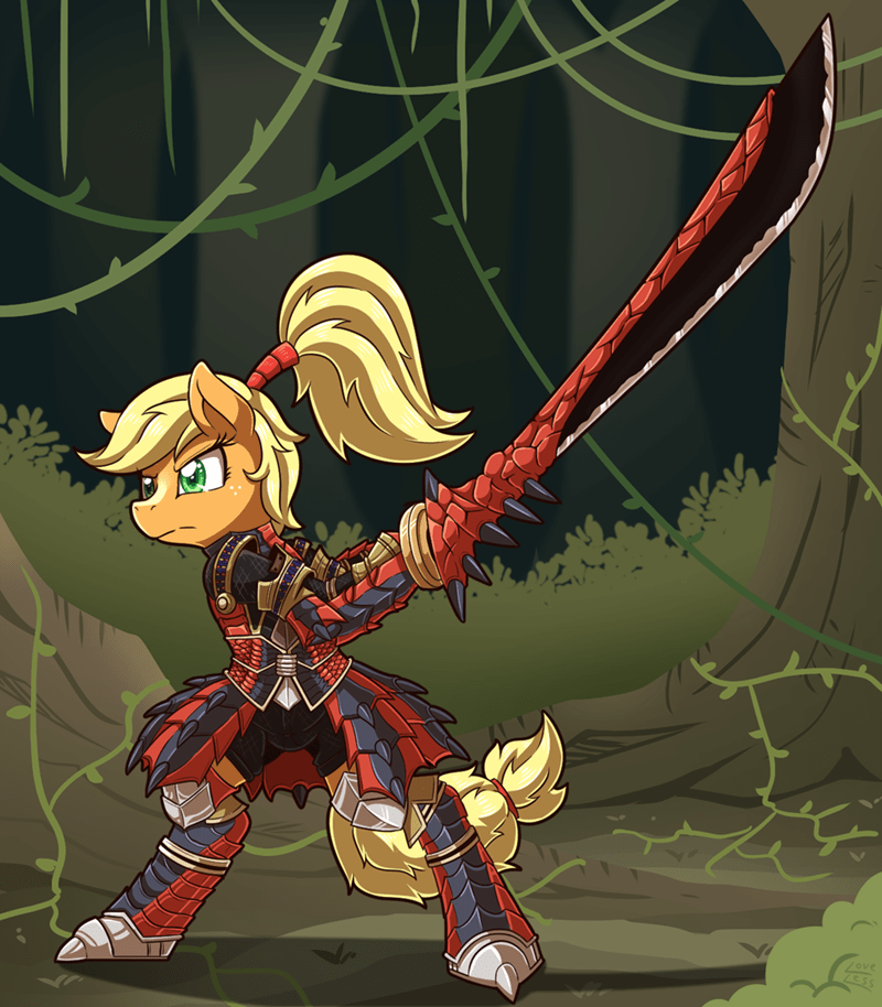 applejack vavacung monster hunter ponify - 9134569984