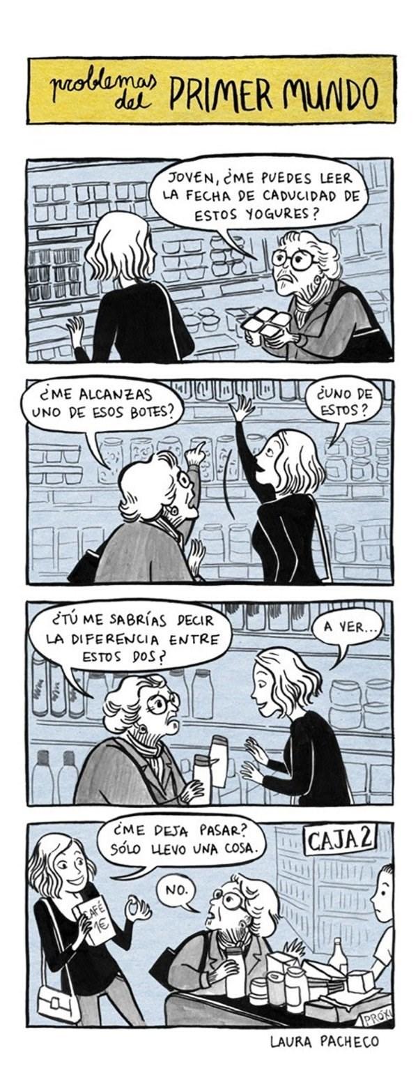 cuando ayudas a una anciana pero no te ayuda a ti