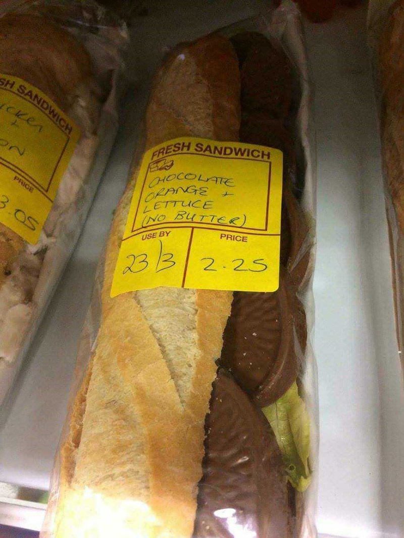 dank - Food - sH SANDWICH CKer FRESH SANDWICH ORANGE ETTUCE PRICE PRICE 3.Os USE BY 2:25