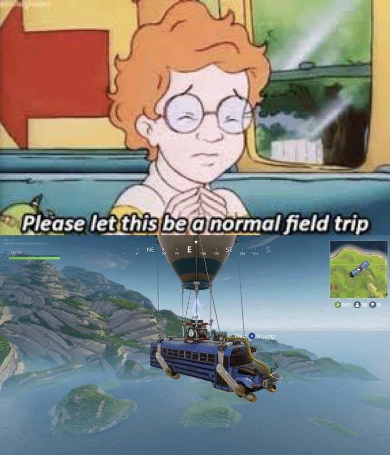 dank - Cartoon - Please let this be a normal field trip atat emon e S 165 NE SE 120 catatlas 79 105 30 150. 0:51 96 0 Press Tojump