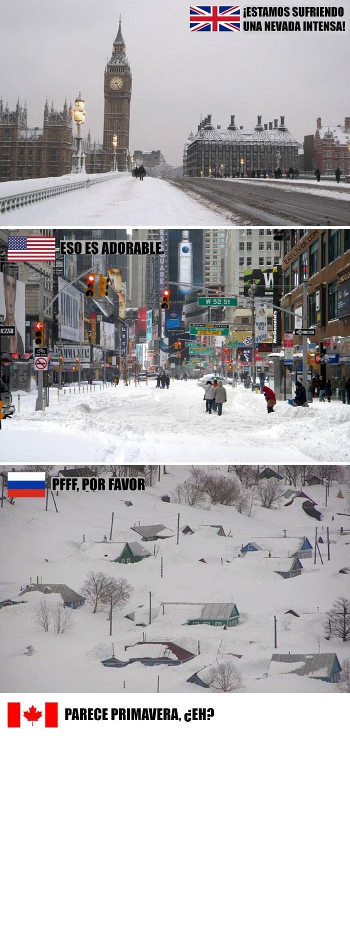 comparaciones de invierno en distintos paises